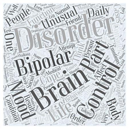 bipolar disorder for dummy Word Cloud Concept Stock Vector - 73549262
