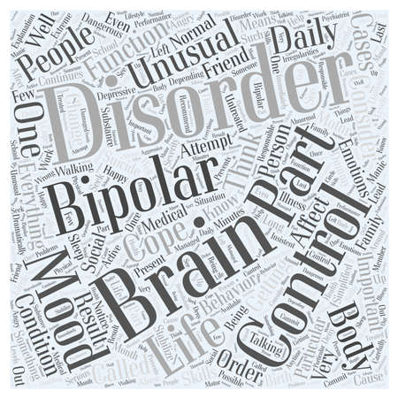 bipolar disorder for dummy Word Cloud Concept