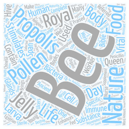 Bee Supplements For Your Health text background wordcloud concept