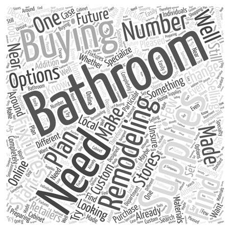 Bathroom Remodeling Supplies Your Buying Options Word Cloud Concept Best Bathroom Remodeling Supplies