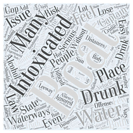 intoxicated: Boating While Intoxicated Word Cloud Concept Illustration