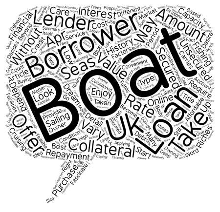 摘要: Boat Loans The Most Convenient Way To Become A Boat Owner text background wordcloud concept