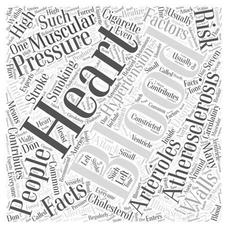 contributes: Blood presure facts Word Cloud Concept