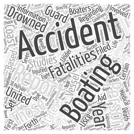 Boating Accidents Word Cloud Concept