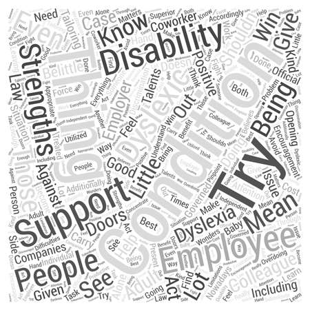 dyslexic: Being With An Adult Dyslexic Word Cloud Concept
