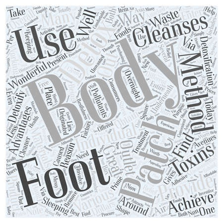 body detox patch Word Cloud Concept Illustration