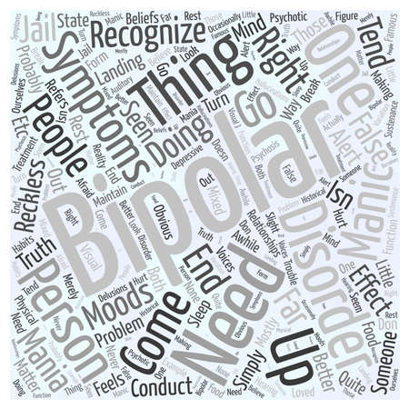 bipolar disorder symptoms Word Cloud Concept
