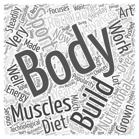 Body Building Word Cloud Concept