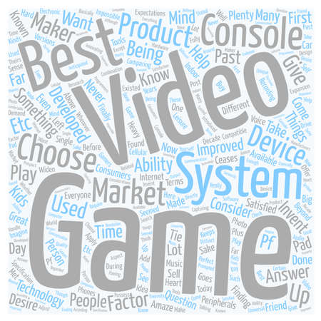 best video game system text background wordcloud concept