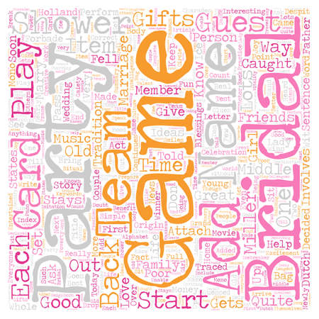 quite time: Bridal Shower Games Ideas text background wordcloud concept Illustration