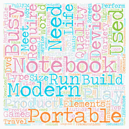 Build Your Own Notebook text background wordcloud concept Illustration