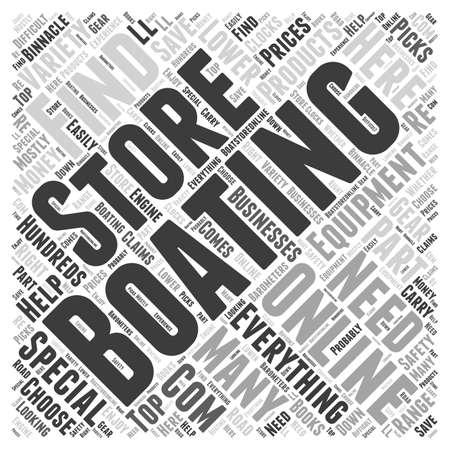 online specials: Boating Store Word Cloud Concept