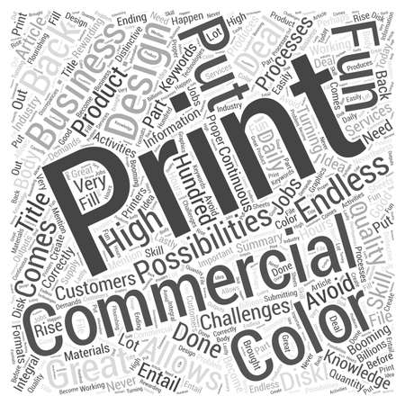 Booming Commercial Printing Business Word Cloud Concept  イラスト・ベクター素材