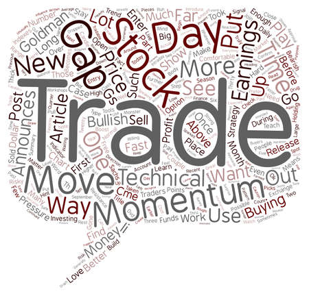Better Trades Momentum Part text background wordcloud concept