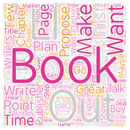 maybe: Book Proposals 101 What Publishers Want text background wordcloud concept Illustration