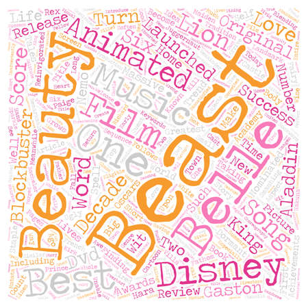Beauty And The Beast DVD Review text background wordcloud concept