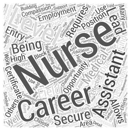 간호 조무사가 간호사 단어 구름 개념으로 경력으로 이어질 수 있습니다