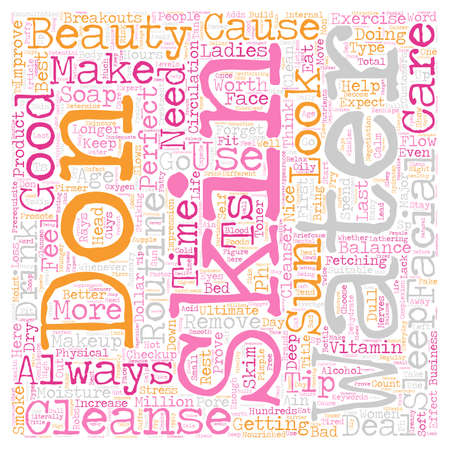 Beauty Skin Ain t Just For Women Even Guys Need It text background wordcloud concept Illustration