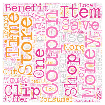 Benefits Of Coupons text background wordcloud concept