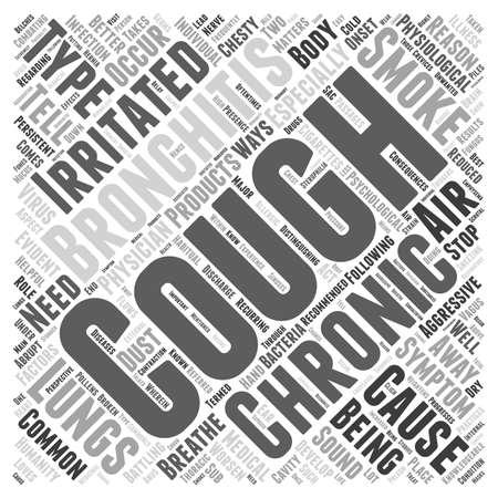 chronic bronchitis: bronchitis chronic cough symptom Word Cloud Concept