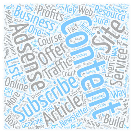 Boost Your Traffic and Adsense Profits with Content text background wordcloud concept