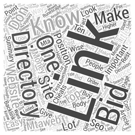 bidding: Bidding Directories Word Cloud Concept Illustration