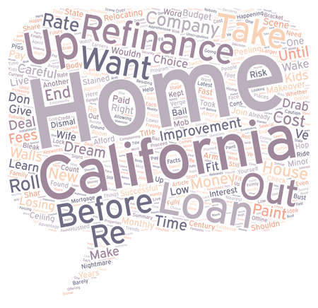 happening: Before And After Your California Refinance text background wordcloud concept