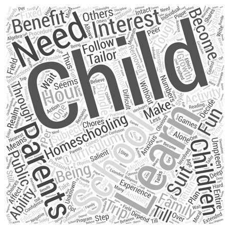 homeschooling: benefits of homeschooling Word Cloud Concept
