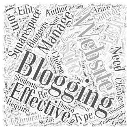 intended: blogging websites Word Cloud Concept Illustration