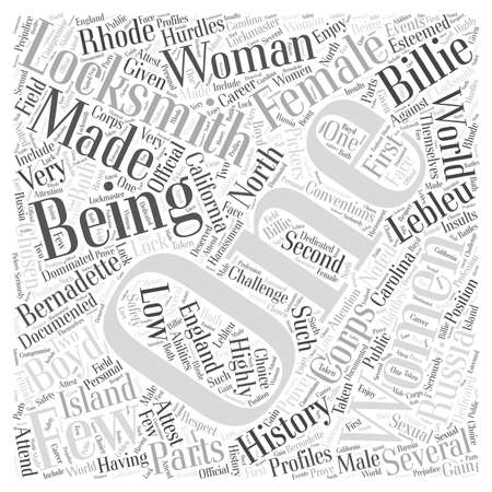 documented: Being a Woman Locksmith Word Cloud Concept