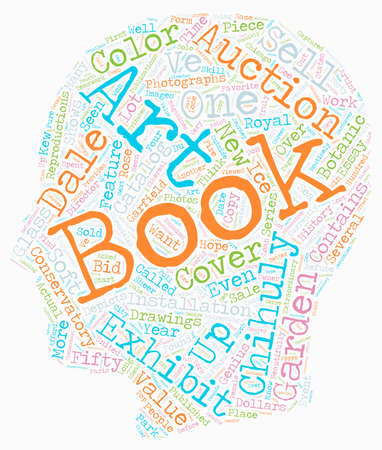 books about dale chihuly 1 text background wordcloud concept