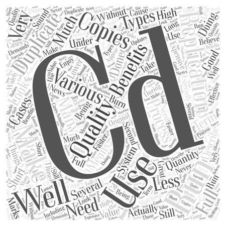 describe: Benefits Of CD Duplication Word Cloud Concept