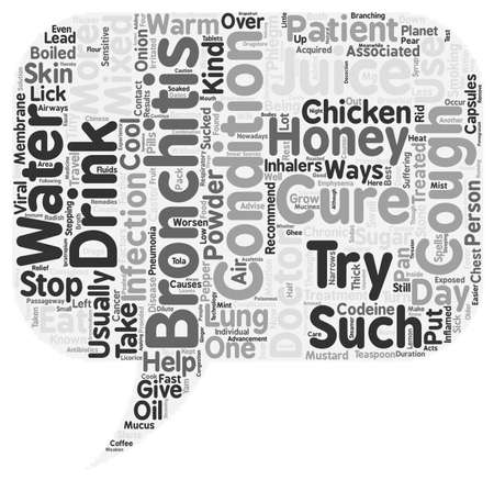 bronchitis cure text background wordcloud concept