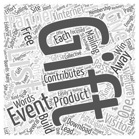 ventures: Building Your List with Give Away Ventures Word Cloud Concept