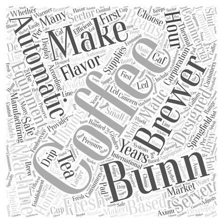 bunn coffee Word Cloud Concept Vektorové ilustrace