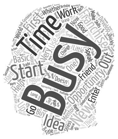 daunting: Business Opportunity Start Your Own Business text background wordcloud concept Illustration