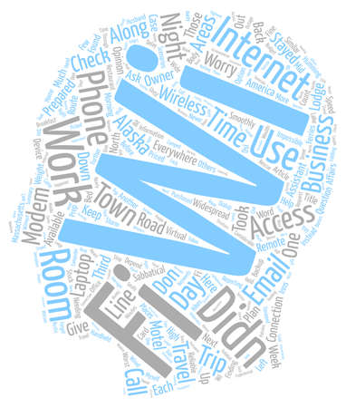 depend: Business Owners Can You Depend On Wi fi When You Travel text background wordcloud concept Illustration