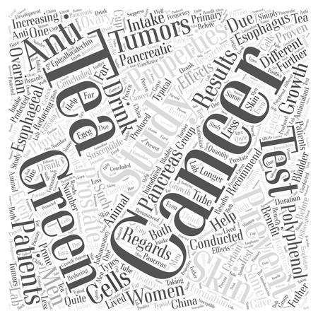 tumors: Cancer Prevention and Green Tea Intake Word Cloud Concept Illustration