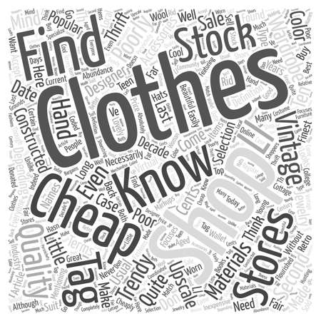 cheap clothing Word Cloud Concept
