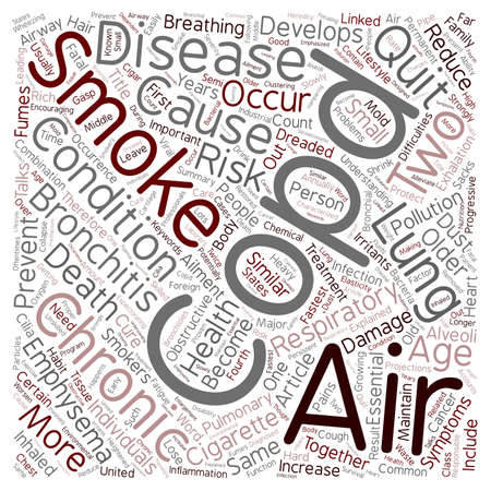 explained: COPD Respiratory Ailment Explained text background wordcloud concept.