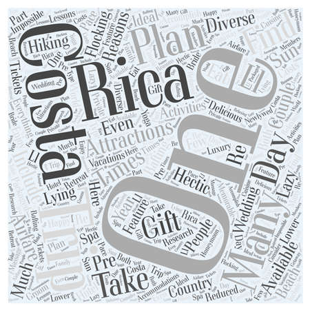 Costa rica trips Word Cloud Concept. Illustration