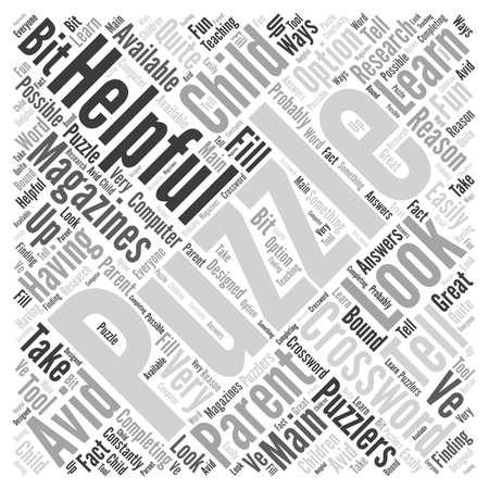 クロスワード パズルの雑誌単語雲概念。  イラスト・ベクター素材