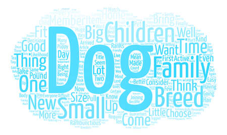 Family with pet text background word cloud concept.