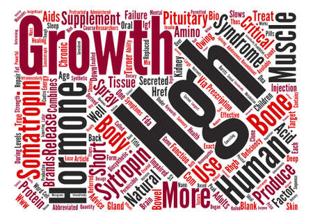 HGH Somatropin text background word cloud concept