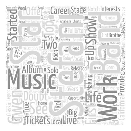 Gwen Stefani Tickets See A Versatile Star Live text background word cloud concept.