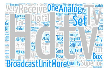 hdtv receiver Word Cloud Concept Text Background Illustration