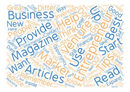 contemplate: Entrepreneur Magazine l text background word cloud concept. Illustration