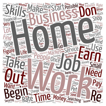 Create Your Own Work At Home Job text background wordcloud concept