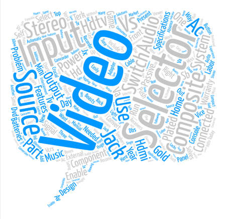 hdtv av selector Word Cloud Concept Text Background