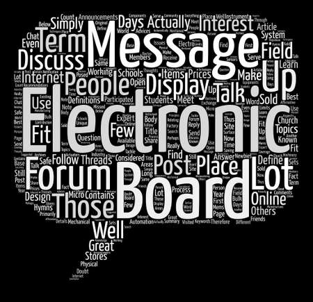 Electronic Message Boards How To Use Them Word Cloud Concept Text Background